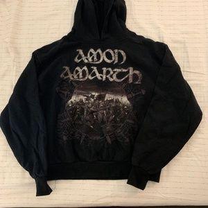 amon amarth band logo hoodie